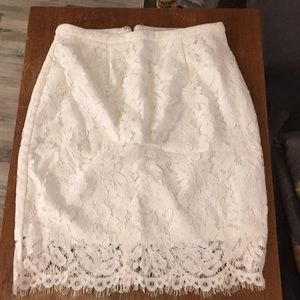NEW Ivory Lace Skirt